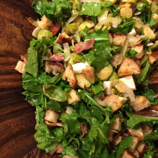 Warm Brussel Sprout Salad
