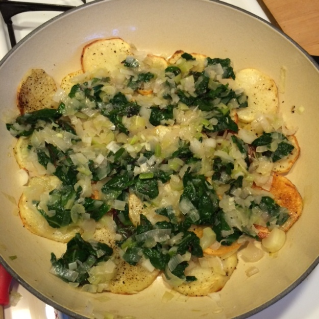 potatoes onions and chard